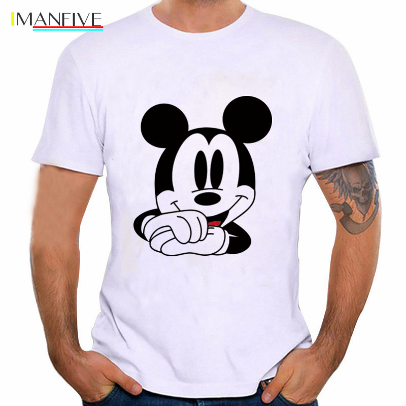 T Shirt Men Mickey Mouse Tshirt Plus Size Harajuku Shirt T-shirt Funny T Shirts Graphic Tees Men Streetwear Plus Size S-3XL