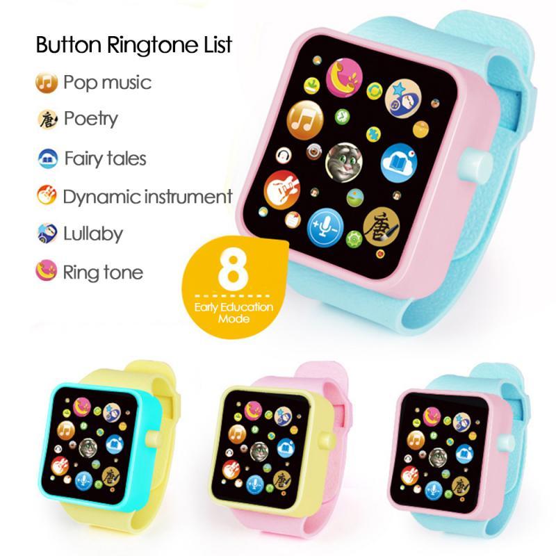 Çocuk akıllı dijital saat oyuncak Walkie Talkies simülasyon elektronik çok fonksiyonlu dokunmatik ekran izle erkek kız en iyi hediye