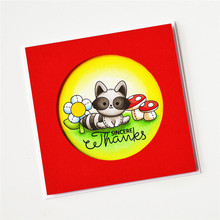 YaMinSanNiO Animal Cutting Cute Fox Metal DIY Decorative Embossing Scrapbooking Craft Card Stencil Template