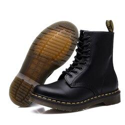 2019 novos homens botas para martin botas masculinas sapatos adultos doc motocycle botas quentes tornozelo sapatos de inverno sapatos masculinos mais tamanho 46