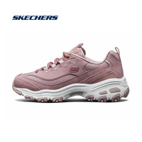 Skechers D'lites Platform Chunky Sneakers Woman Comfortable Vulcanize Shoes Triple Sole Metallic Sequins Bling Footwear13142 MVE