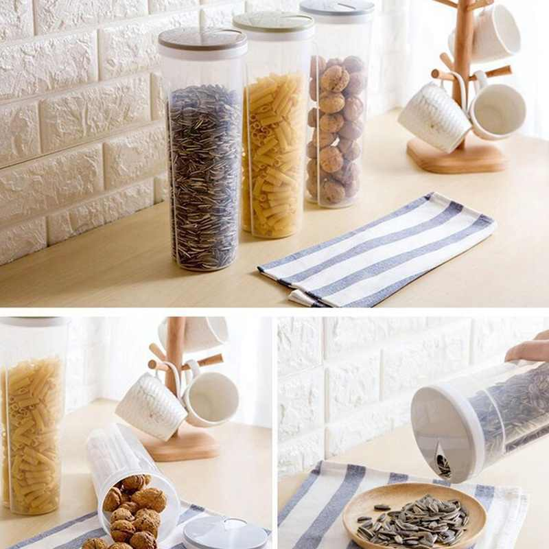 Details about  /Plastic Tall Food Storage Spaghetti Noodles Pasta Nuts Snacks Container Holder