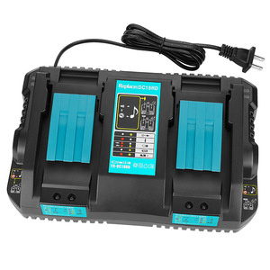 Double Battery Charger For Makita 4A Charging Current 14.4V 18V BL1830 BL1815 Bl1430 BL1420 DC18RC DC18RD DC18RA Power Tool(China)