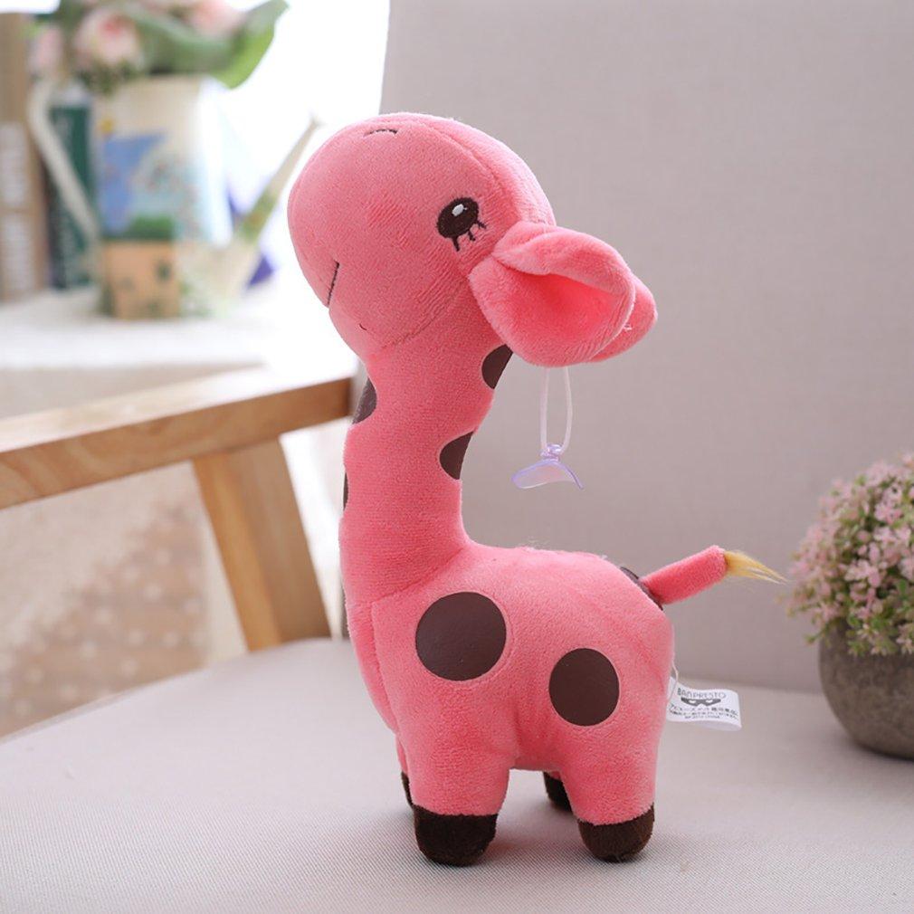 18cm Baby Kids Soft Cartoon Animal Giraffe Plush Toy Doll Deer Birthday Gift