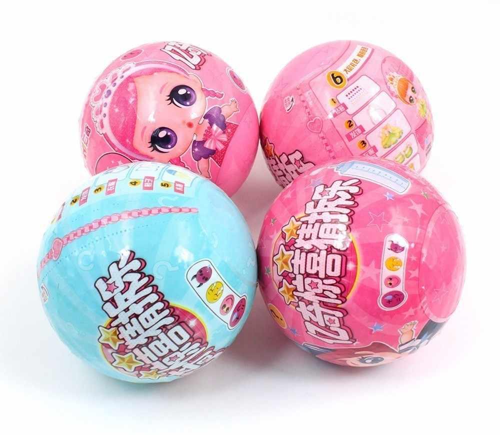 ของแท้ DIY LOL ตุ๊กตาบอลของเล่นเด็กกล่องของเล่นปริศนาของเล่นสำหรับสาว Lols ตุ๊กตาเด็กวันเกิดคริสต์มาสของขวัญ