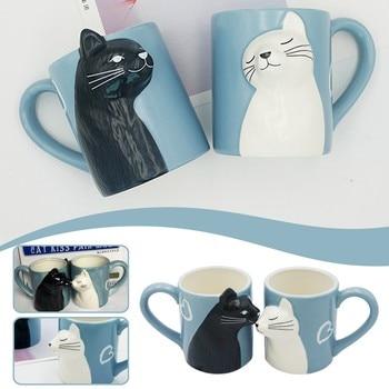 Cat Coffee Couple Mug set 1