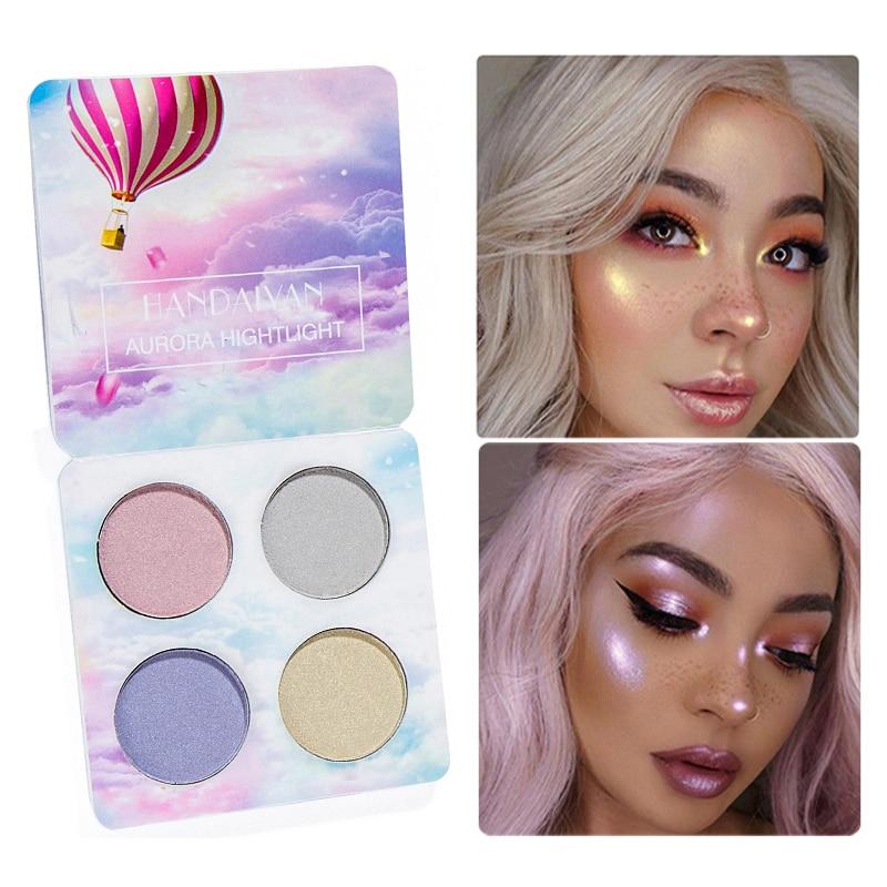 Face Makeup Highlighter Palette Shimmer Body Festival Rainbow Make Up Glow Highlighter Bronzer Powder Pigment Iluminador