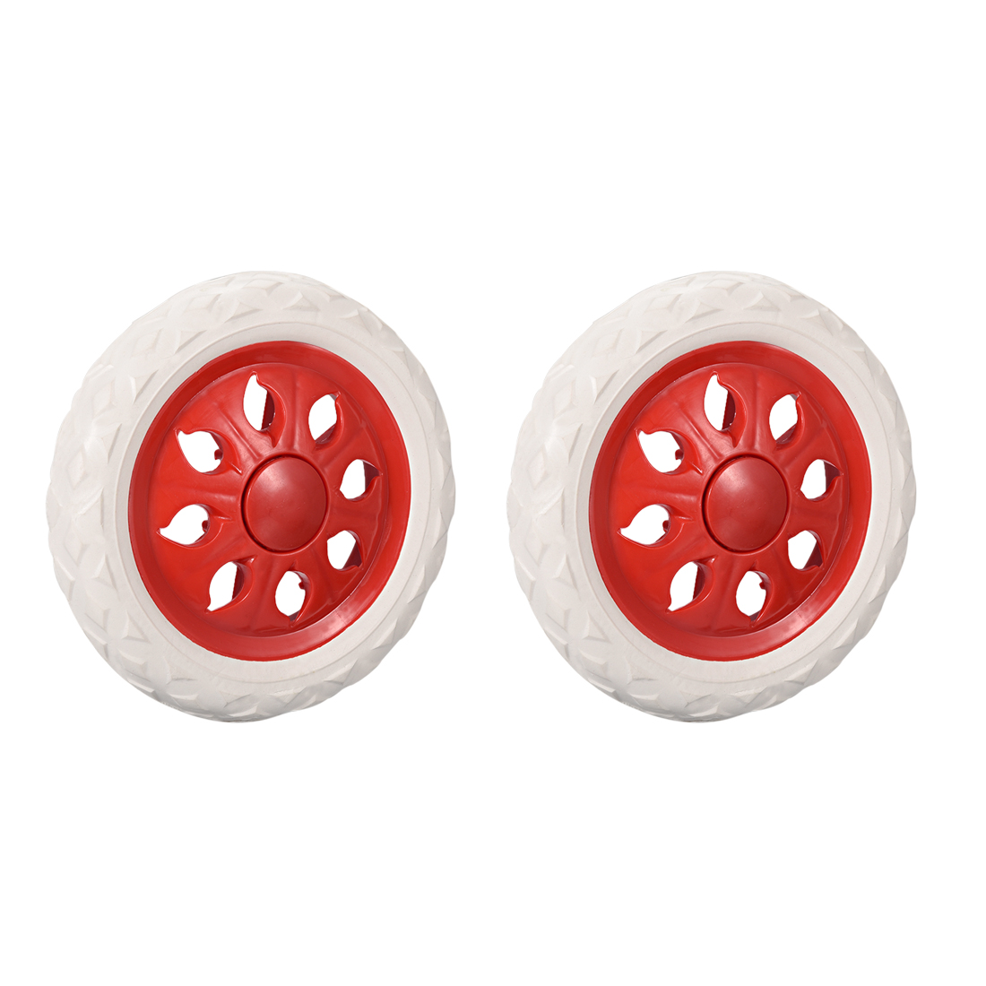 Uxcell 2pcs Shopping Cart Wheels Trolley Caster Replacement 6.5 Inch Dia Rubber Foaming Light Blue Pink Brown Red Blue