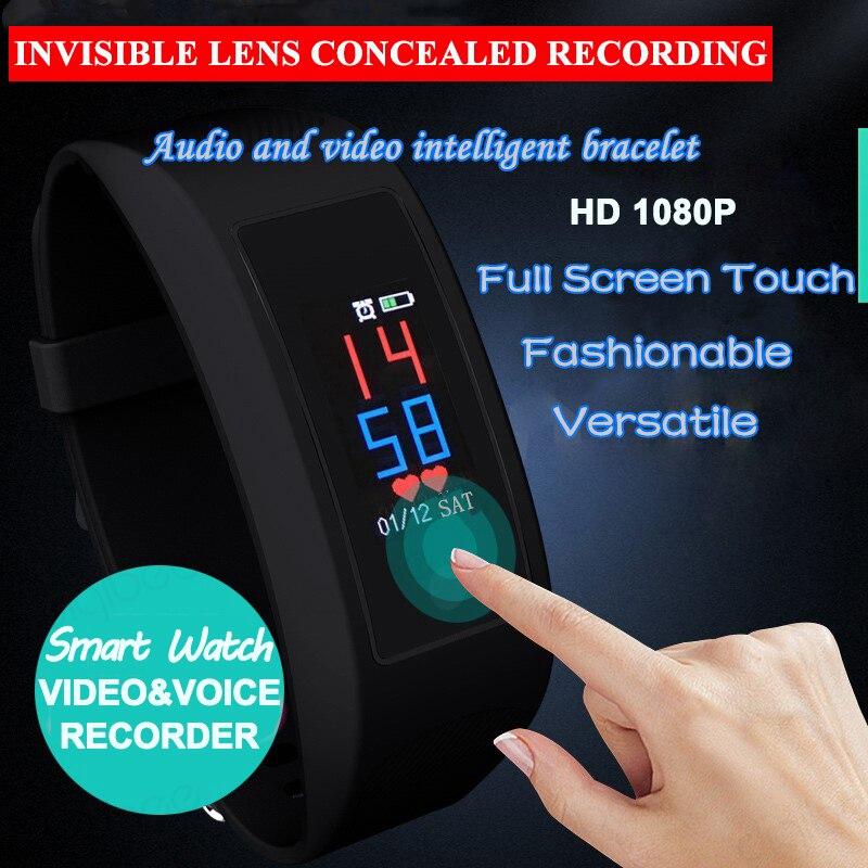 Умный браслет с сенсорным экраном, шагомер, калории, монитор сердечного ритма, умные часы, камера HD 1080 P, видео Диктофон, спортивный DV - 2