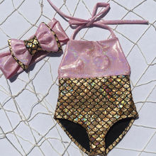 Swimwear Girl Bikini Beachwear Bathing-Suit Bow 2pcs-Set Knot HALTER Sleeveless