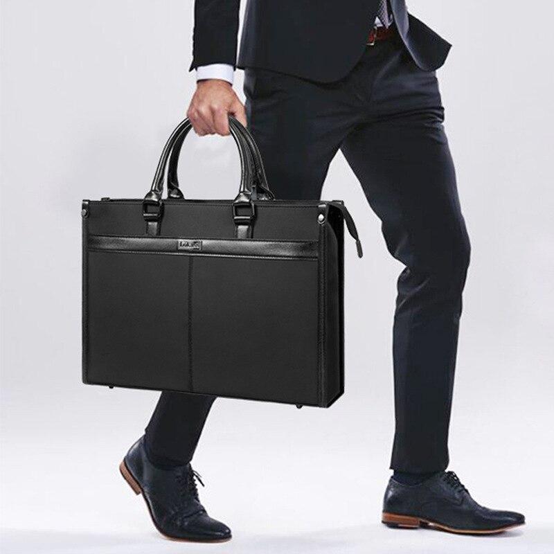 41cm Men Briefcase Laptop Bags Good Nylon Cloth Multifunction Waterproof 15.6