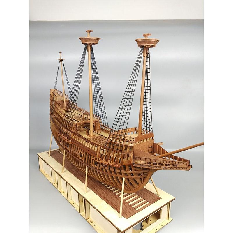 Wooden Sailing Model Kit 1:48 Full Rib May Flower Birthday Gift Ornaments