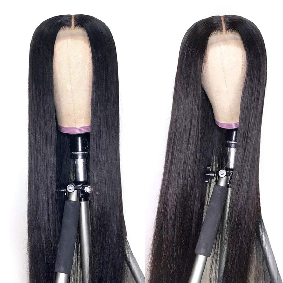 Women Straight Wave Wig Lace Closure  Wigs Pre Plucked 30inch 4X4 Lace Closure Wig 180% Density  Wig 2