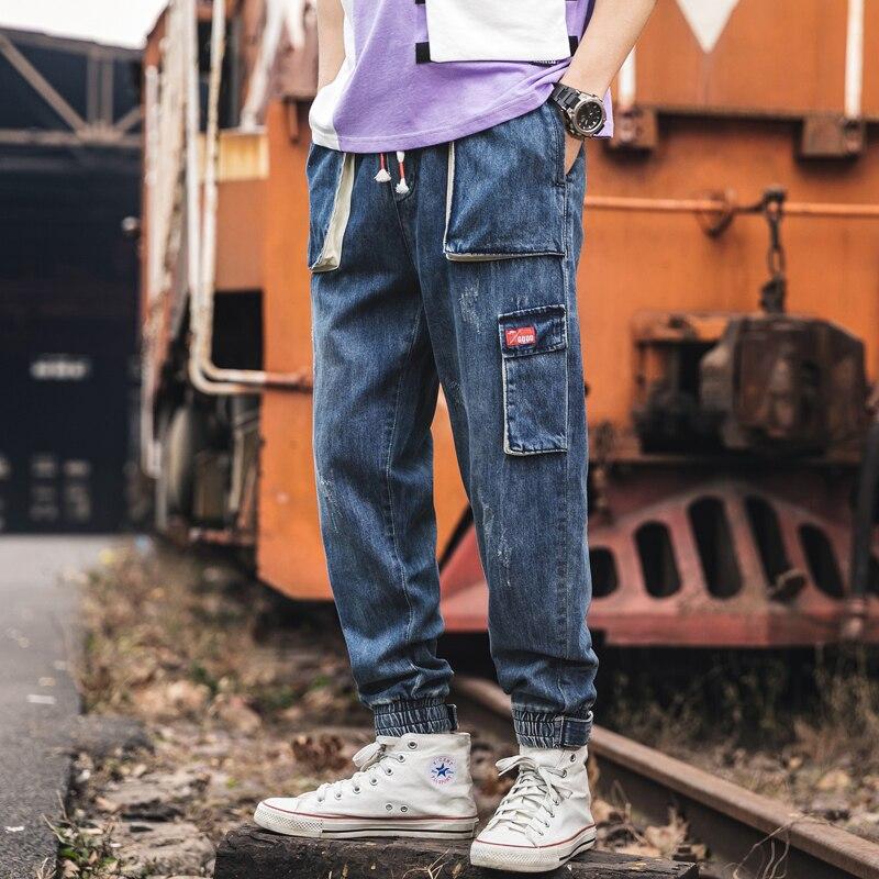 Printemps automne femmes jean décontracté taille haute Patchwork Denim pantalon pantalon sarouel Vintage Calca jean Feminina