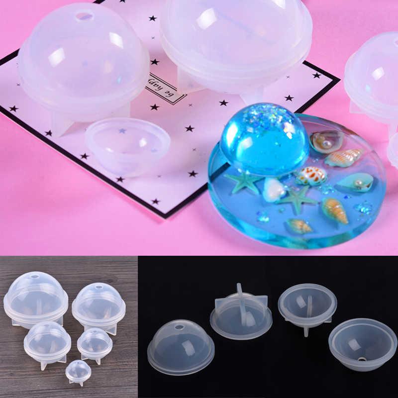ボール形状シリコーン型ステレオ球状シリコーン型ジュエリー作成 Diy ボール樹脂の装飾工芸品ケーキフォンダンモールドベークツール