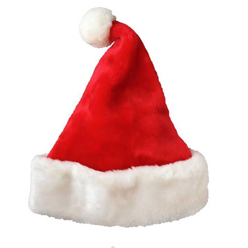 2 Pezzi,Cappello Babbo Natale Adulto,Morbido Cappello di Natale in Peluche,Cappelli di Natale Rossi Unisex,Cappello Babbo Natale,Cappello di Babbo,Cappello di Natale per Adulti.