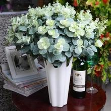16 Heads Artificial Fake Leaf Eucalyptus Leave bouquet Silk Leaves Home Decoration DIY Flower Plant Faux Foliage
