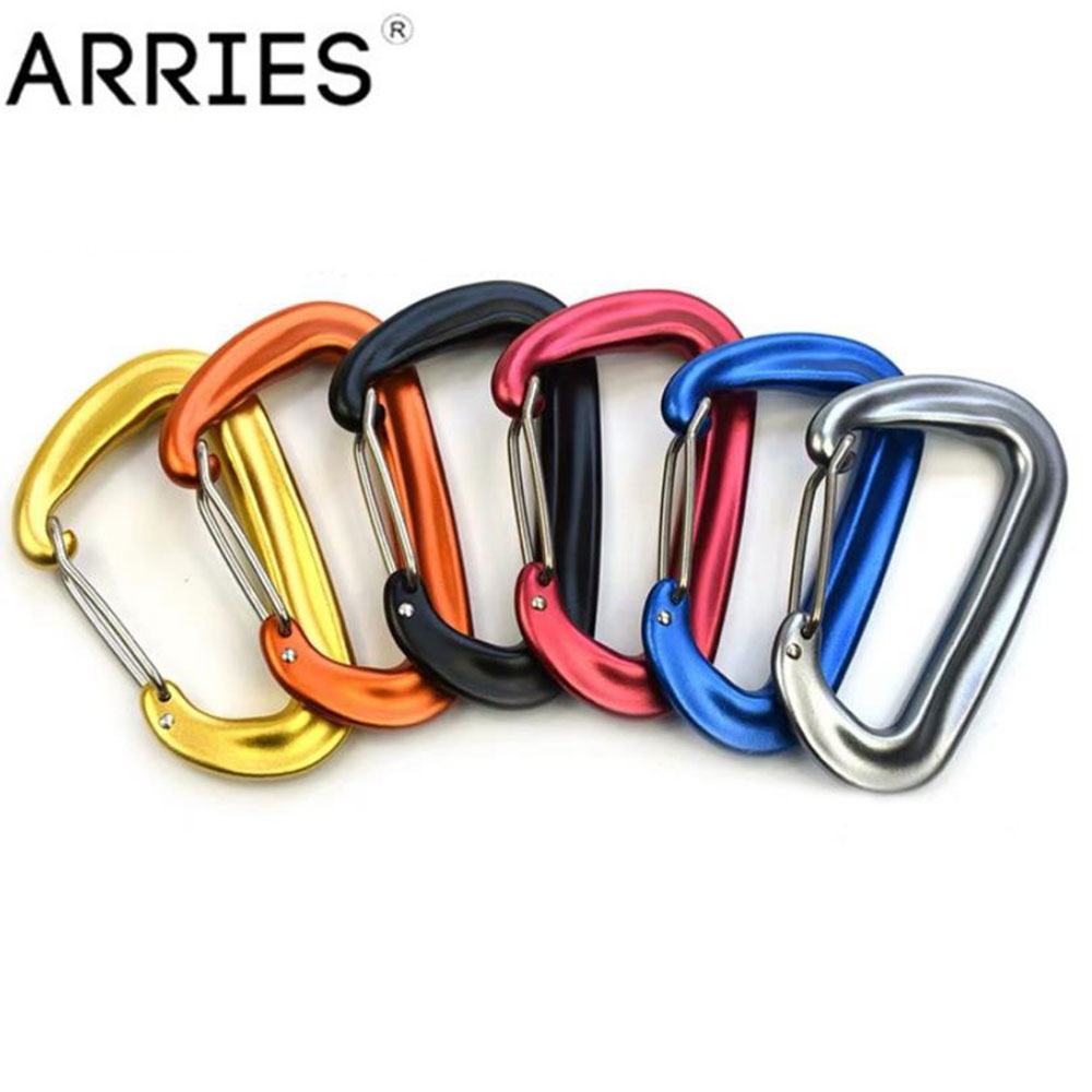 12KN Aviation Aluminum Hammock Carabiner Spring Clasp Clip Swing Backpack Hook Mountaineering Camping Climbing Safety Buckle