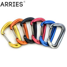 Carabiner Hook Hammock Clip-Swing Safety-Buckle Aviation Aluminum Camping Backpack Spring