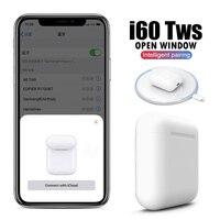 i60 TWS Wireless Bluetooth Earphone Separate Use QI Wireless Charging Pop Up i60TWS Bass Earphones PK 1:1 i30 i20 i12 i10 TWS