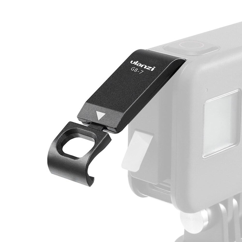 Ulanzi G8-7 liga de alumínio tampa da bateria destacável lado recarregável cobre acessórios para gopro 8 câmera ação