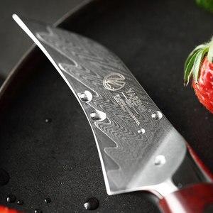 Image 4 - YARENH 3 Polegada Faca de Frutas   Melhores Facas de Cozinha   Chef Fruit Peeling Knife   67 Camadas de Aço de Damasco Japonês   Alça de jacarandá