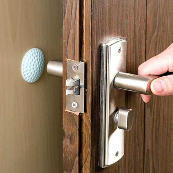 4 kolory odbojnik samoprzylepny samoprzylepny bufor ścienny Stop Protector nakładka na klamkę łagodząca uderzenia zatyczka gumowa odbojnik do drzwi