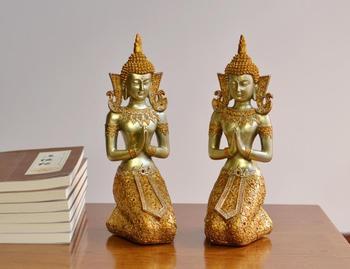 Estatua de Buda del estilo del sudeste asiático, decoración del hogar, artes y artesanías de Tailandia, decoración, ¿regalos de