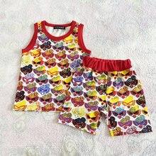 T-shirt pour garçon et Fille, vêtement d'été en coton, avec motif de sucette complète, 2021