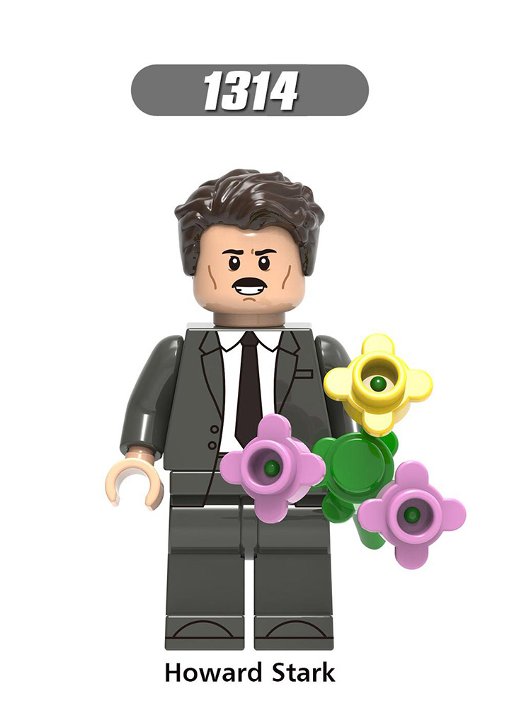 Single Sale Legoinglys Super Heroes MiniFigure Robert Bruce Banner Iron Man Stark Steve Rogers Learning Toys Children Gift X0264