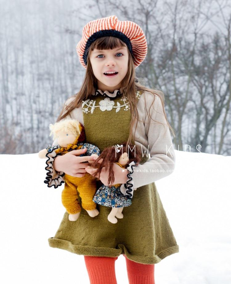 New Winter Kalinka Kids Clothes Girls Sweater Baby Bloom Neck Fashion Knit Cardigan Children Cotton Wool Tops Boys Clothing 2
