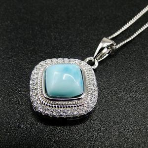 Image 3 - الأكثر مبيعاً قلادة جميلة من الفضة الإسترليني عيار 925 مجوهرات نسائية من دومينيكا لاريمار الطبيعية قلادة للهدايا