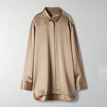 FANTOYE OL Stil Weißes hemd Für Frauen Casual Oversize Langarm Bluse Drehen-unten Kragen Offizielle Damen Top Weibliche v-ausschnitt Neue
