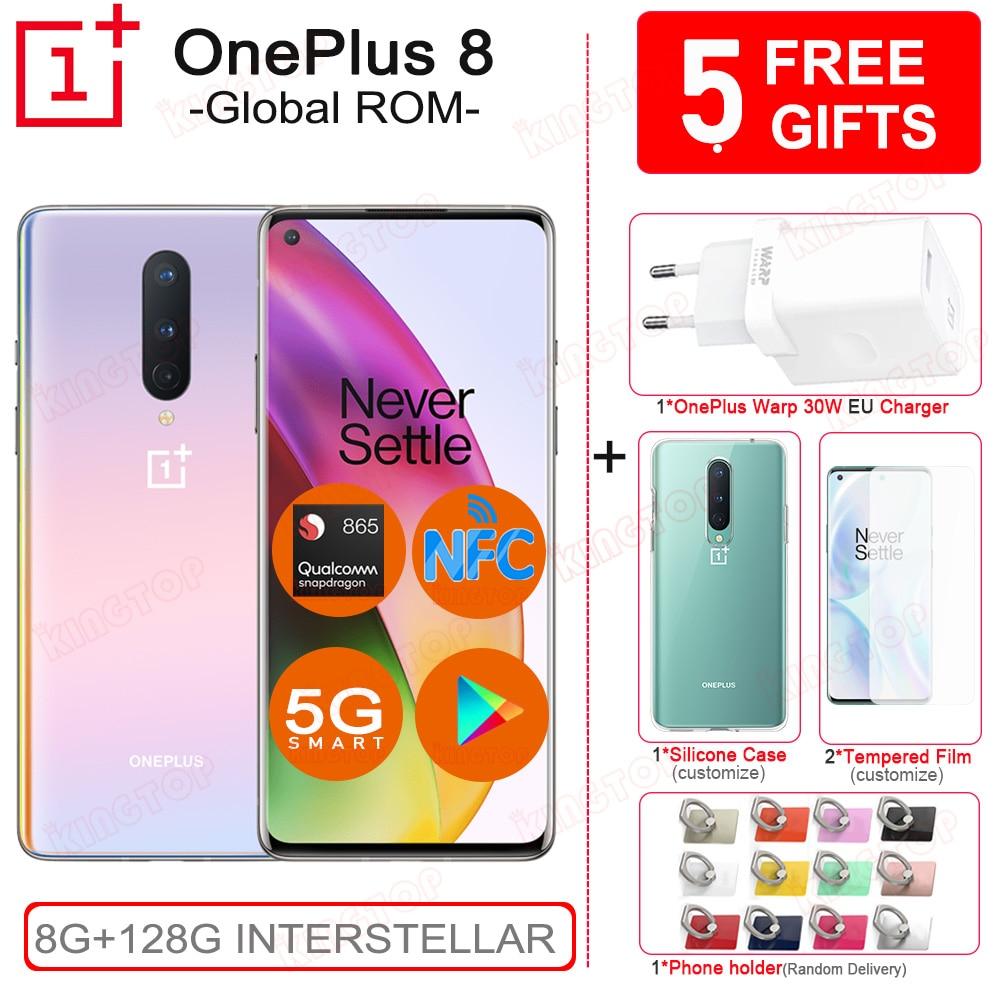 Original OnePlus 8 Mobile Phone 8GB 128GB Snapdragon 865 6.55
