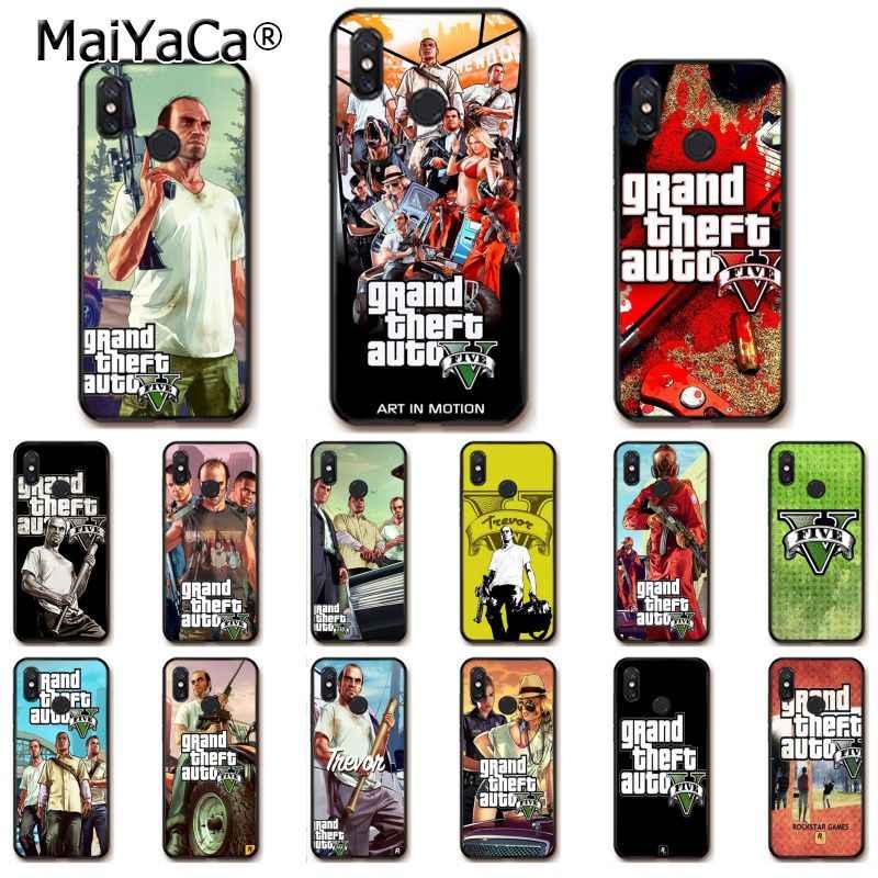 Maiyaca Gta 5 Grand Theft Auto V Phone Case untuk Xiaomi MI5 6 A1 A2 Lite Mi9 9SE Mi8lite F1 mix2 2S Max2 3