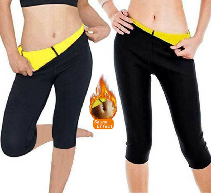 Women Slimming Fit Thermal Hot Short Pants Ladies Neoprene Weight Skinny Slin Flexible Body Shaper Sporty Training Gym Trouster