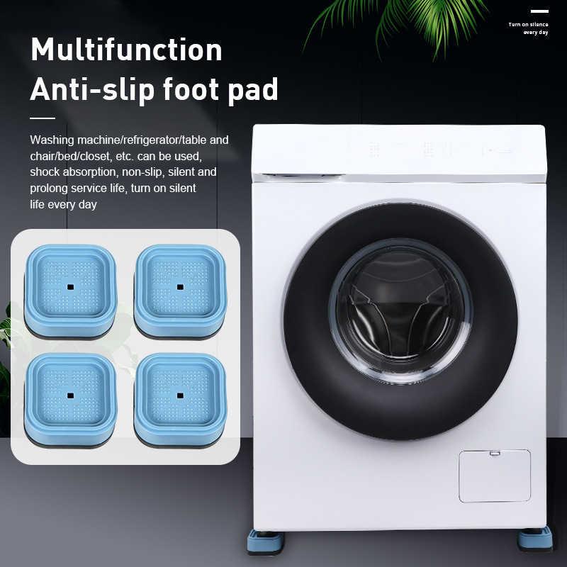 4 pieces lave linge anti choc tapis refrigerateur meubles tampon en caoutchouc amortisseurs anti derapant proteger le sol
