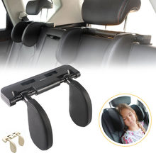 Car Seat Headrest Pillow Neck Support Adjustable Sleeping Side Head Support Memory Foam Support Cushion