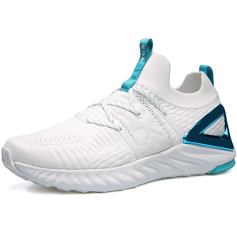 PEAK TAICHI Male Running Shoes Fashion Lightweight Adaptive Shock-absorbing Sneakers Breathable Soft Sole Women Tennis Shoes