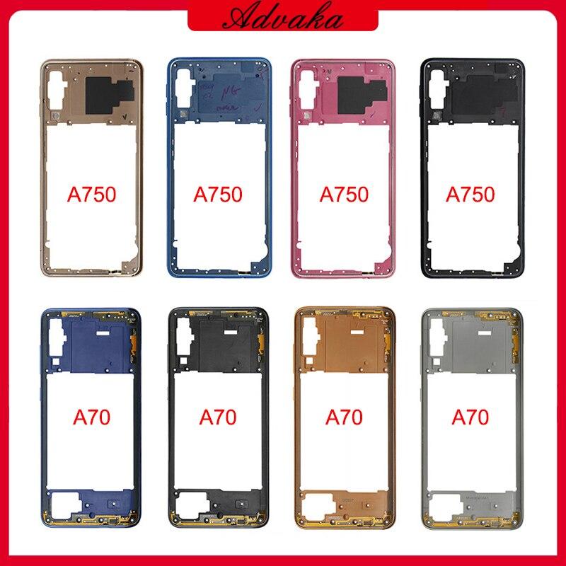 Advaka средняя рамка средняя пластина крышка сменные части для Samsung Galaxy A70 A705 / A7 2018 A750 Mid корпус