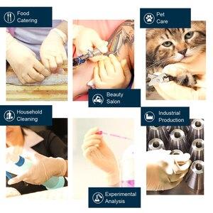 Image 3 - 100 sztuk/partia jednorazowe lateksowe rękawice ochronne antypoślizgowe rękawice lateksowe gumowe lateksowe rękawice do czyszczenia gospodarstwa domowego