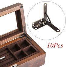 10pcs90 ° 30x33мм угловой деревянный ящик поддерживает шарнир