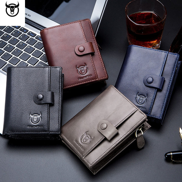 Male Wallets With Zipper Coin
