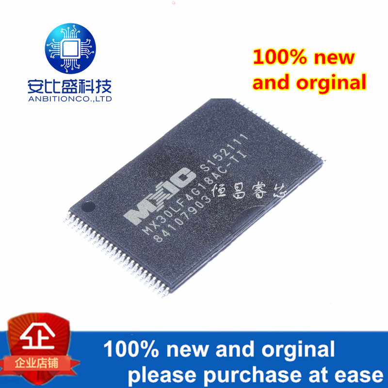 1pcs 100% New And Orginal MX30LF4G18AC-TI 4GMbit NAND FLASH TSOP48 In Stock