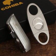 Cohiba 3 струйный фонарь зажигалка для сигар острый резак набор