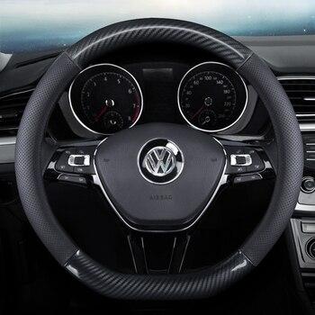 Car Steering Wheel Cover Leather Carbon Fiber for Toyota Tacoma Tercel Tiara Van Venza Yaris Hiace Prius V Hilux Land Cruis