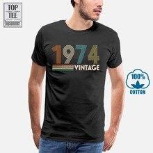 Vintage 1974 T-Shirt Cotton Men T Shirt Men Black Top Black T-Shirt Hip Hop T-Shirts Plain T Shirt Anime Tshirt