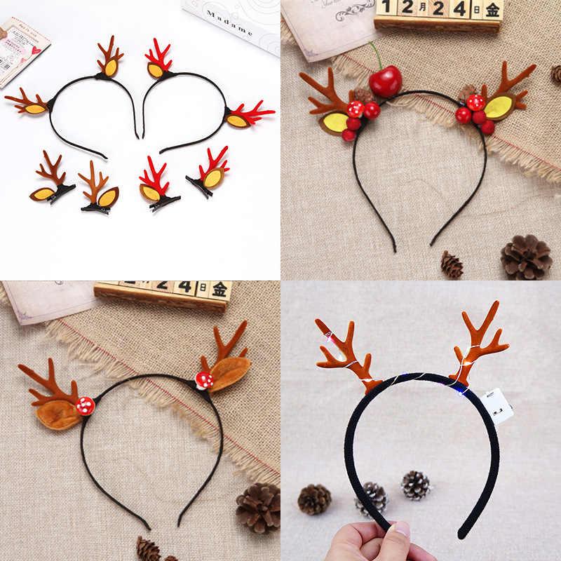 Yeni gelmesi noel simülasyon boynuzları şapkalar geyik boynuzları saç klipleri kafa bandı Goth cadılar bayramı DIY Cosplay aksesuarları sıcak satış