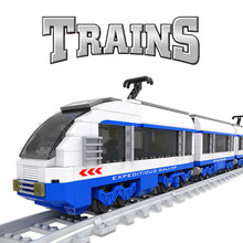 Classic City Train Power-Driven Carriage Vehicle Diesel Rail Building Blocks Set Model Technic Bricks Gift Toys For Children Kid 98219 98220 compatible city series power driven diesel rail train cargo with track set model building blocks toys for kids