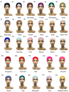 Image 5 - 1PCS di vendita Calda Modale Musulmano Foulard Delle Donne Criss cross tubo cappello Underscarf Cappuccio interno Islamico Della Signora Cappello Hijab Musulmano 28 colori